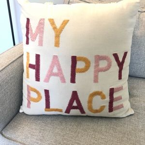 Urban Outfitters My Happy Place Square Pillow